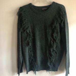 F21 fringe sweater